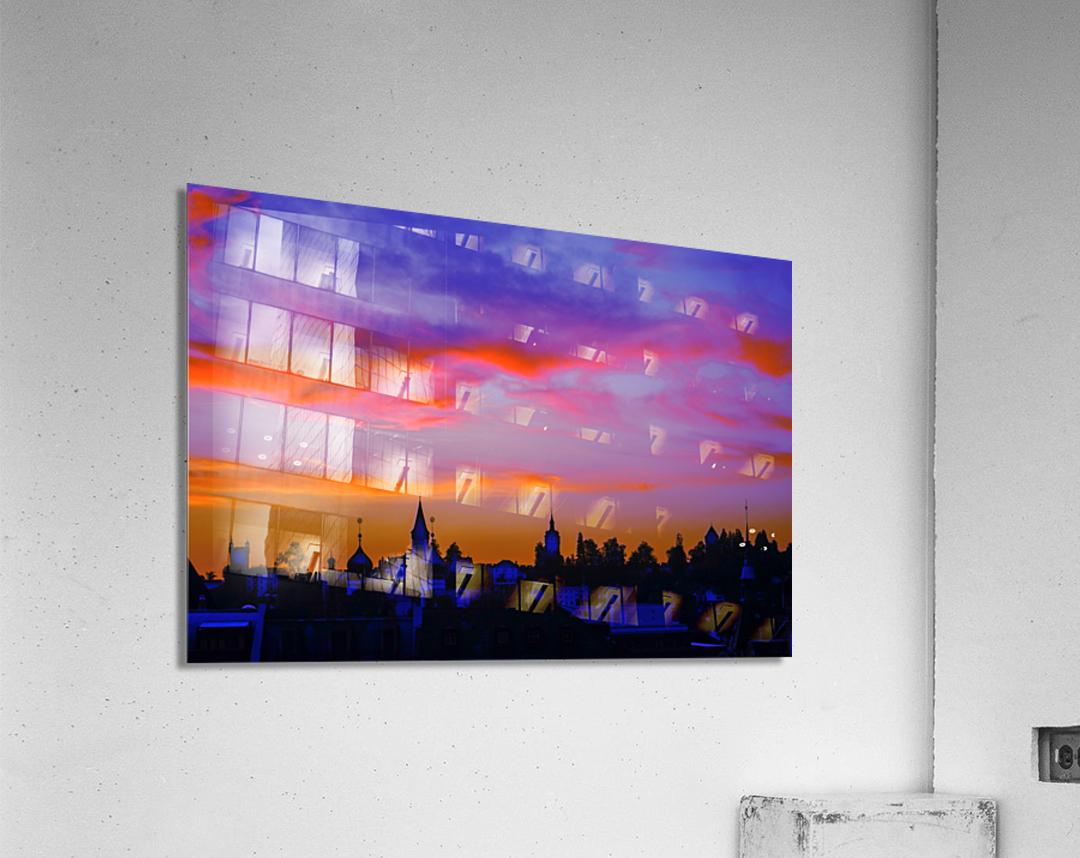 One Fine Summer Evening at Sunset in Lucerne Switzerland  Acrylic Print