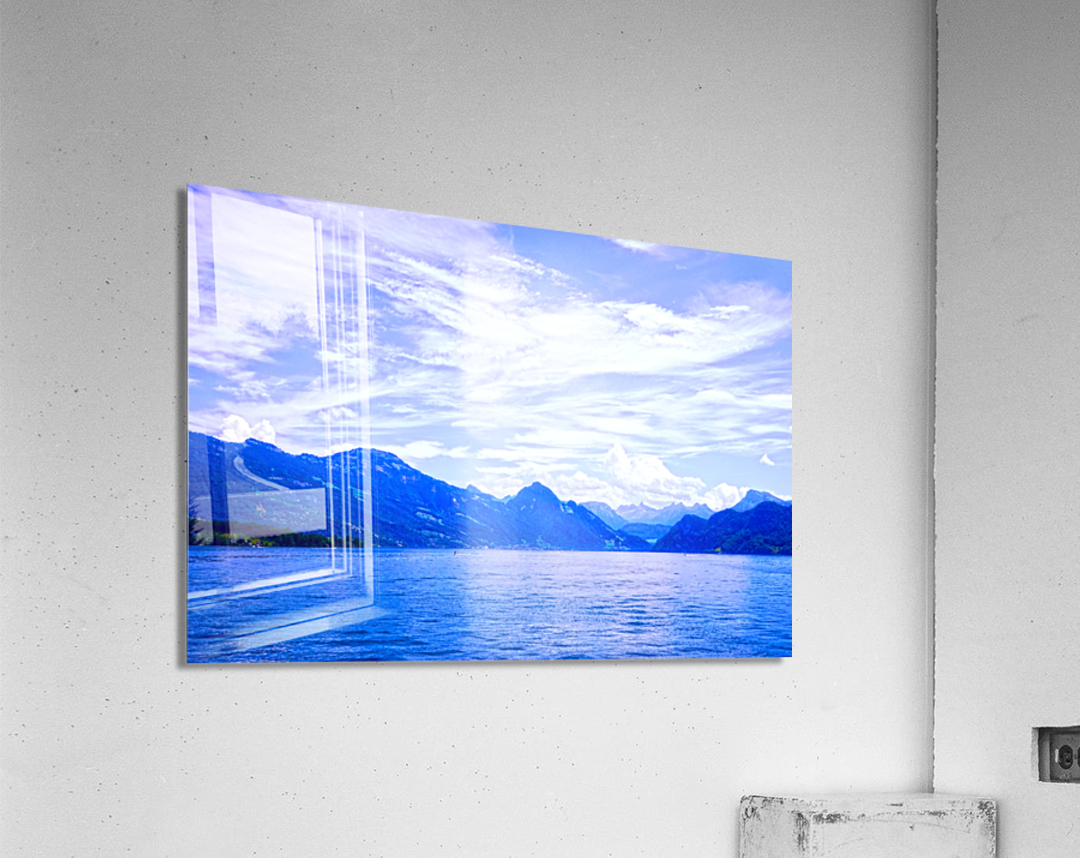 Beautiful Day The Alps and Lake Lucerne 1 of 2  Acrylic Print