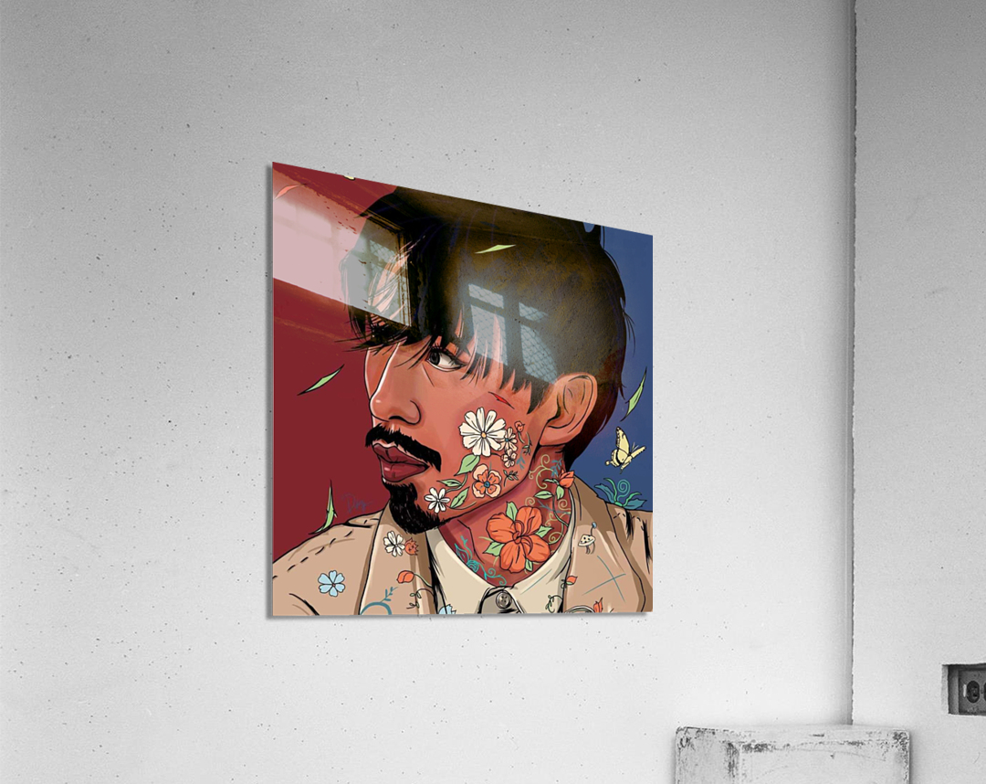Portrait Painting In The MV Hide and Seek  Acrylic Print