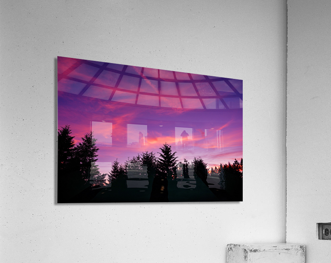 Summer Sunset Pacific Northwest United States  Acrylic Print