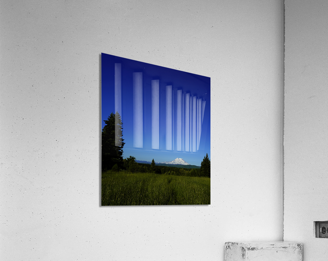 Mount Rainier at Sunset Pacific Northwest Washington State  Acrylic Print