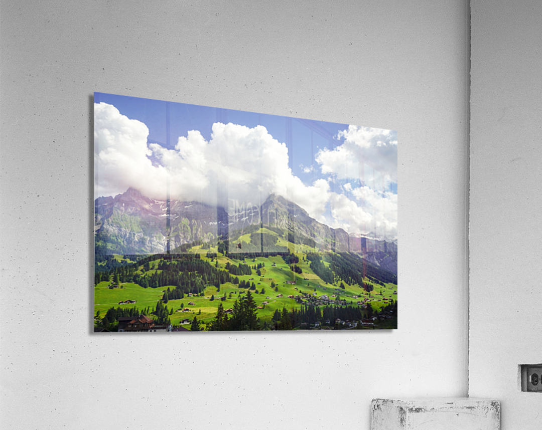 Beautiful Day in the Swiss Alps 2 of 2  Acrylic Print