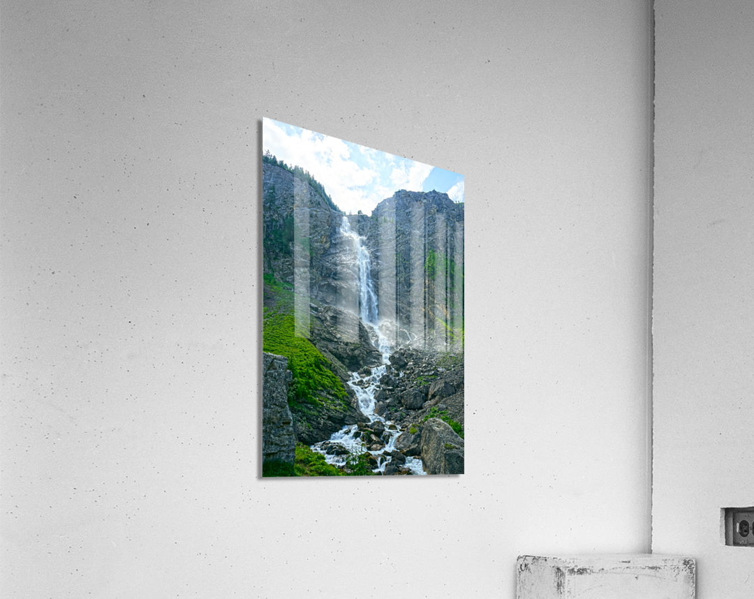 Engstligen Falls Adelboden Switzerland in the Bernese Highlands  Acrylic Print