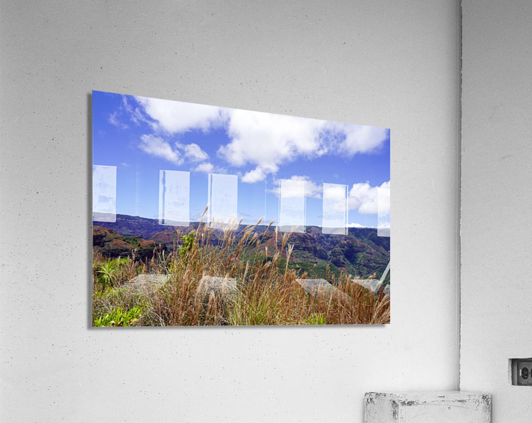 Beautiful View in Waimea Canyon on the Island of Kauai  Acrylic Print