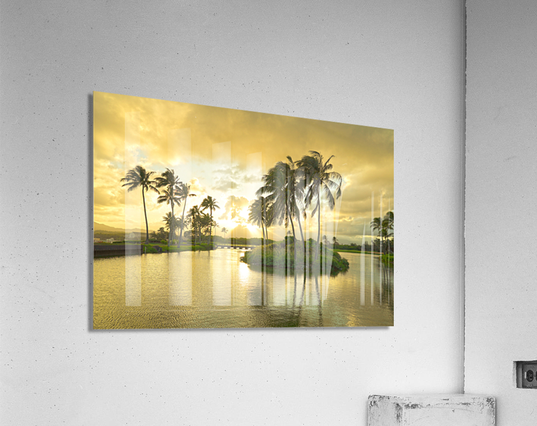 Shadows and Light as the Sun Sets in Kauai 2 of 2  Acrylic Print
