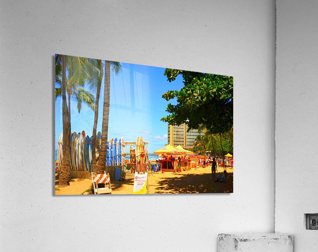 Waikiki Snapshot in Time 2 of 4  Acrylic Print