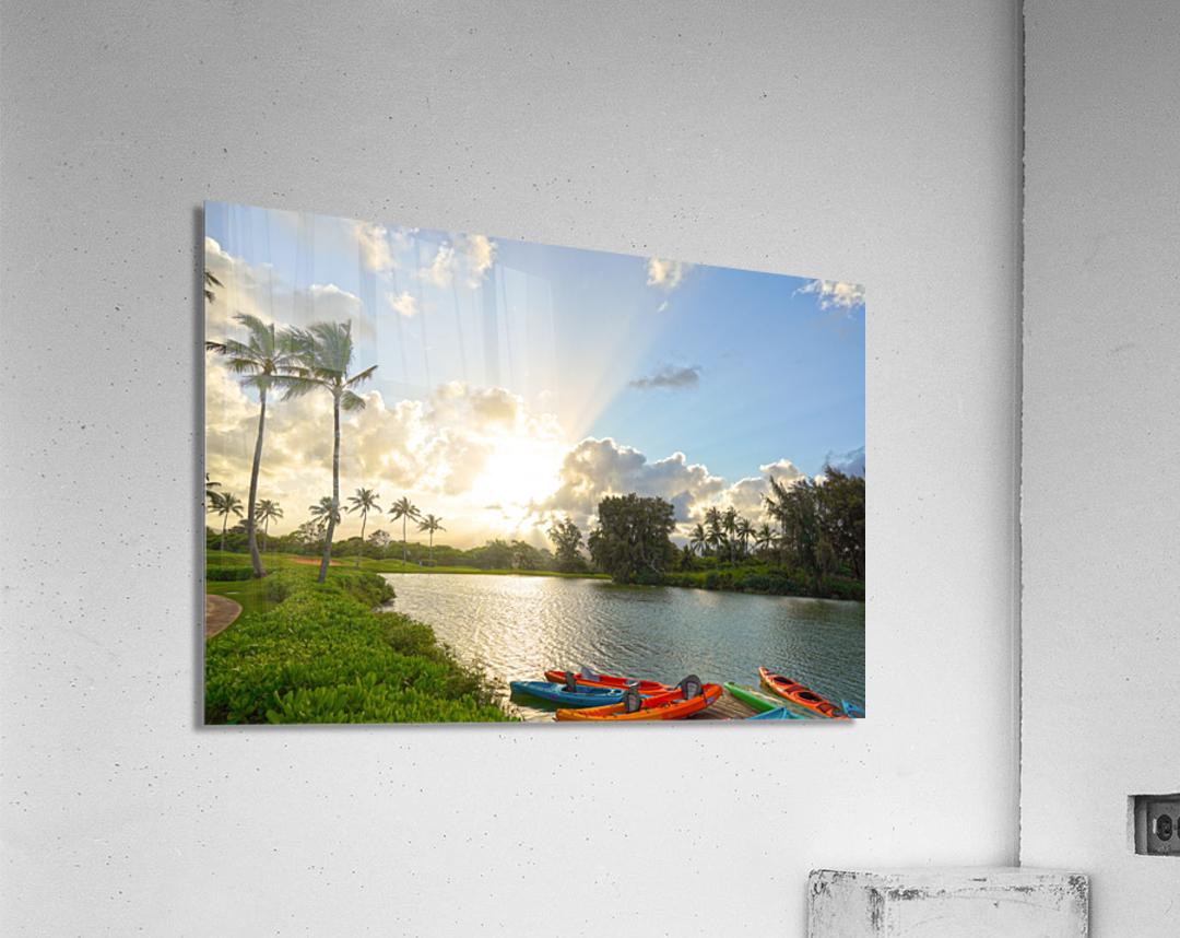Sunset by the Lakeshore in Kauai  Acrylic Print