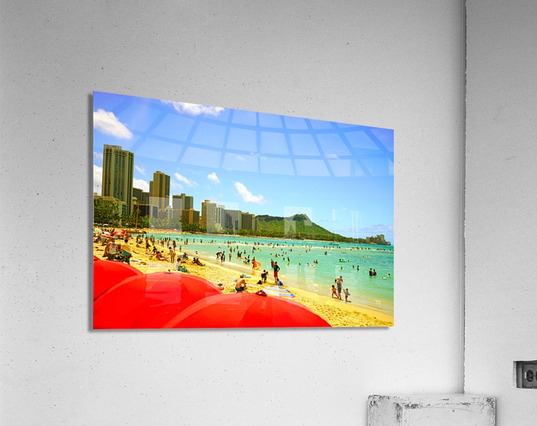 Waikiki Snapshot in Time 1 of 4  Acrylic Print