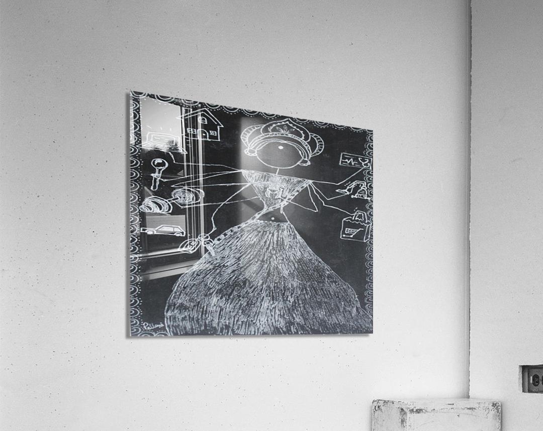 Warli Art Depicting multitask  Acrylic Print