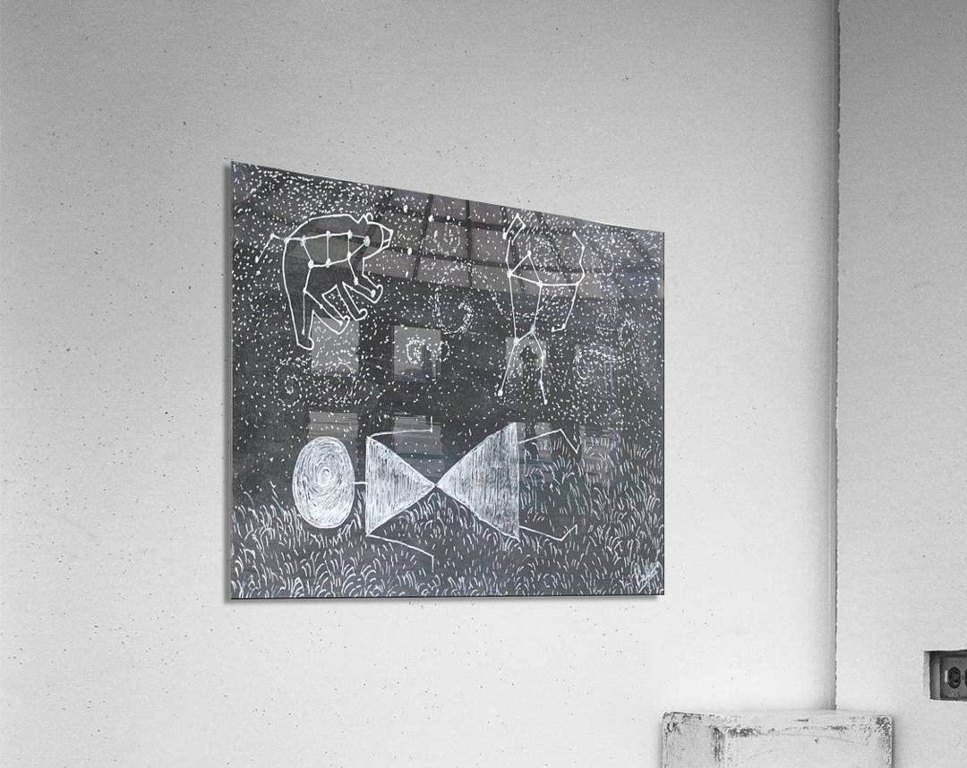 Daydreaming--Warli Tribal art  Acrylic Print