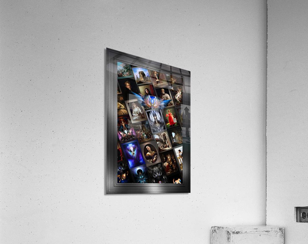Xzendor7 Digital Classical Vintage Art Matrix Color  Acrylic Print