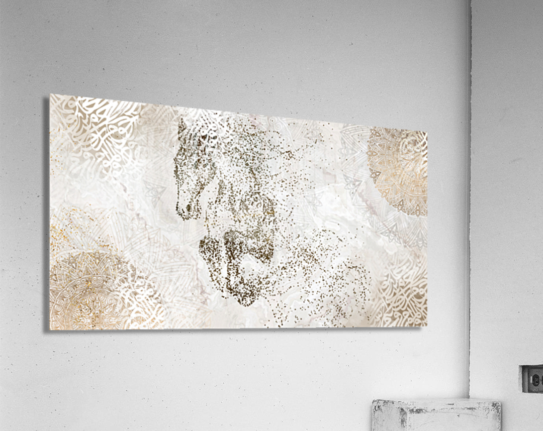 calligraphy horse   Acrylic Print