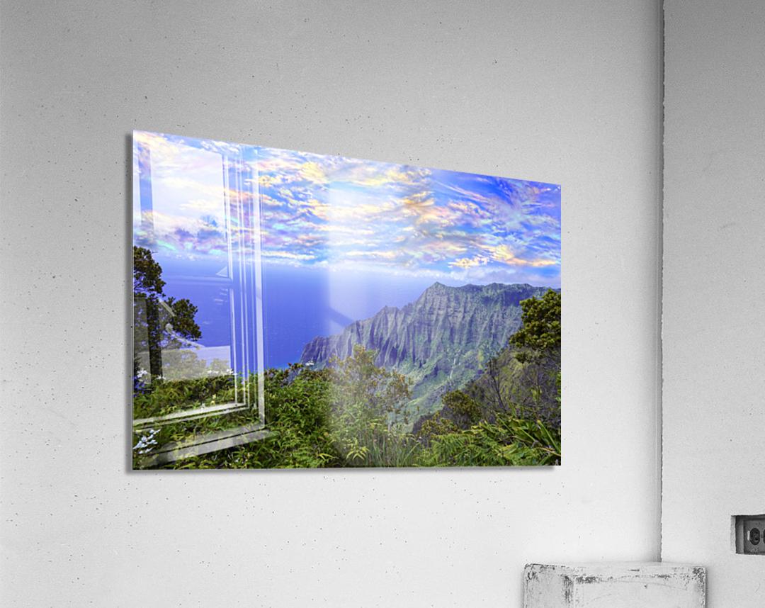 Sunset at Puu O Kila Lookout Kohala Mountains on the Island of Kauai in Hawaii  Acrylic Print