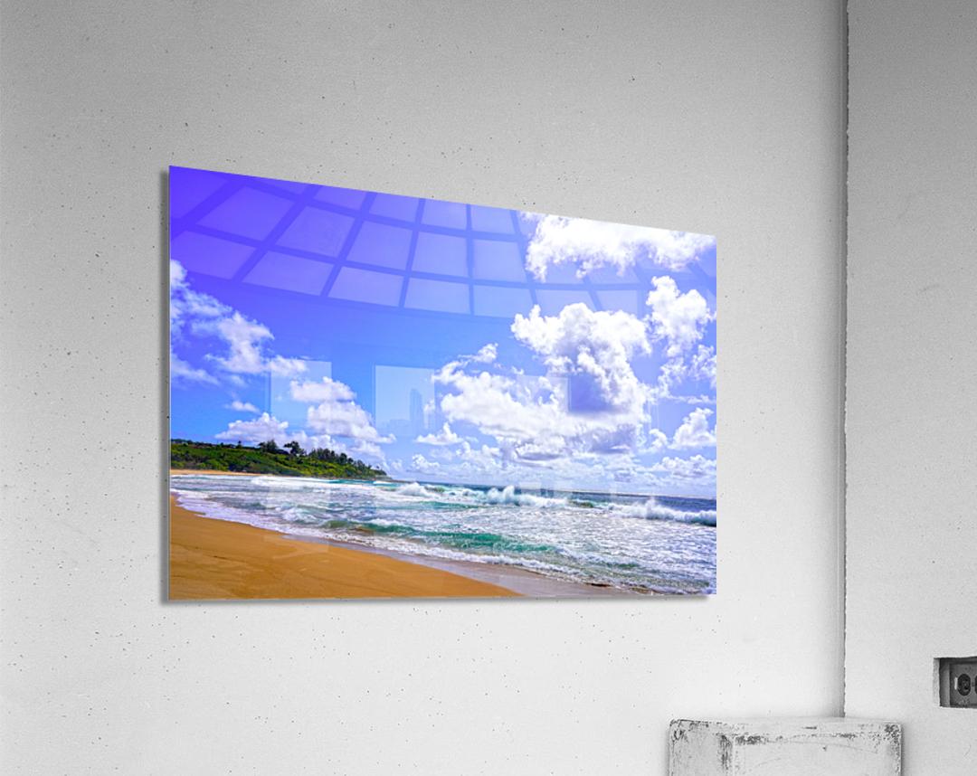 Wild Day at Wailua Beach on the Island of Kauai  Acrylic Print