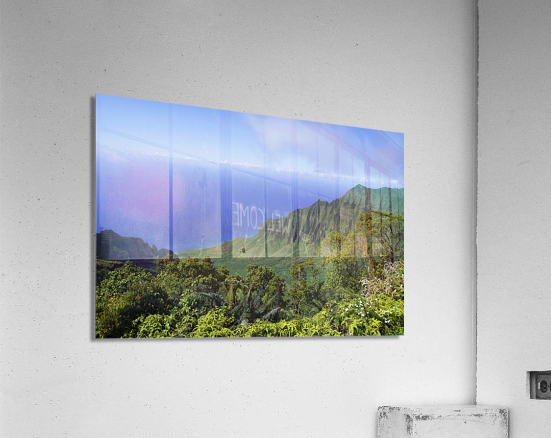 Blue Skies Puu O Kila Lookout Kohala Mountains on the Island of Kauai in Hawaii  Acrylic Print