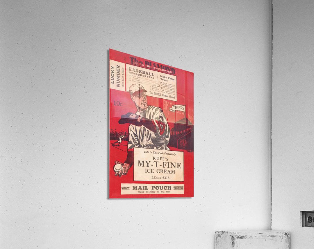 1933 Detroit Tigers Score Card Art  Acrylic Print