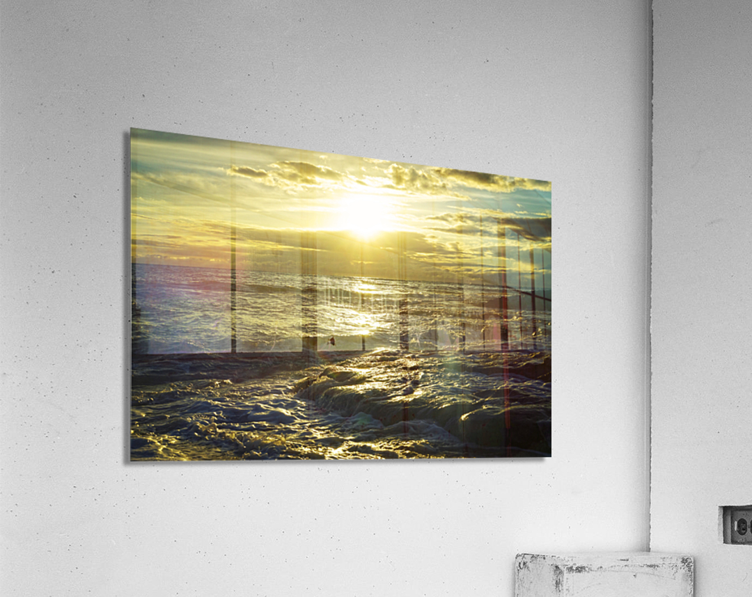 Sunlight and Shadows Play in the Waters at the Bay  Acrylic Print