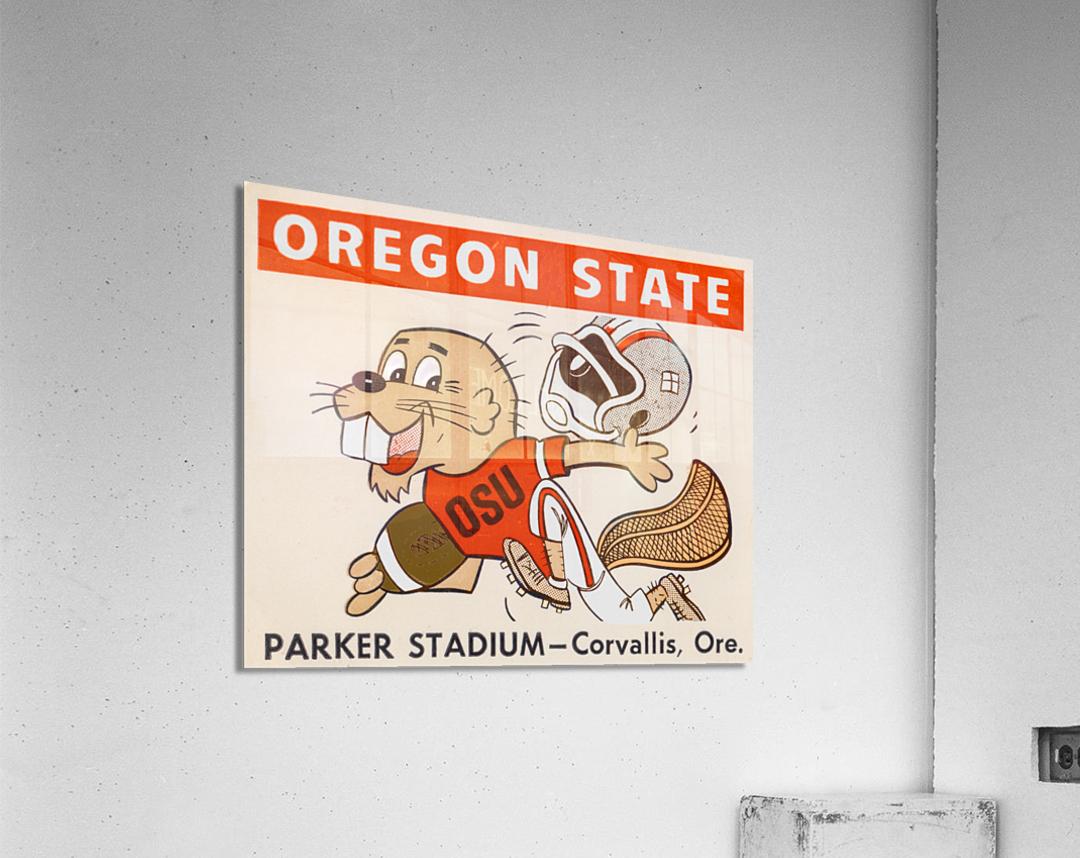 1970 Oregon State Beaver Ticket Stub Remix Art  Acrylic Print