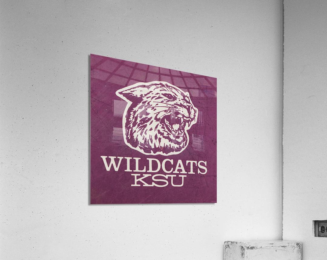 Retro Eighties KSU Wildcats Art  Acrylic Print