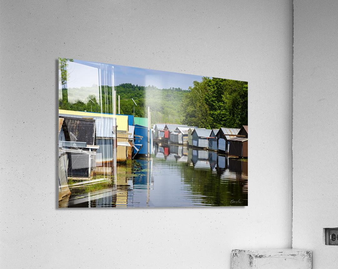 Hangars    bateaux - Boathouses  Acrylic Print