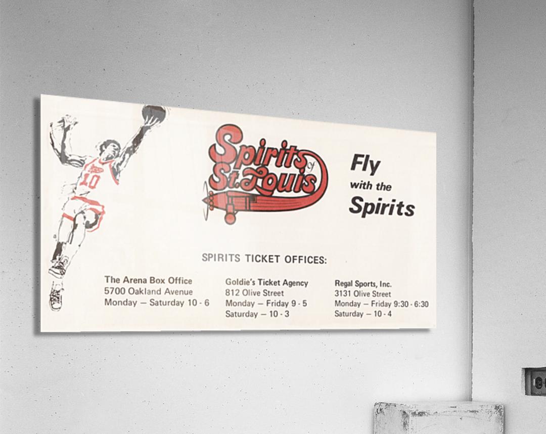 1976 Spirits of St. Louis Basketball Team Art  Acrylic Print