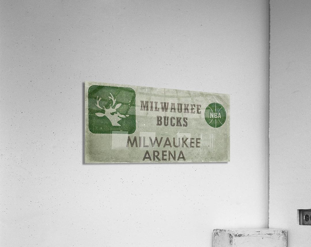 1977 Milwaukee Bucks Ticket Stub Remix Art  Acrylic Print