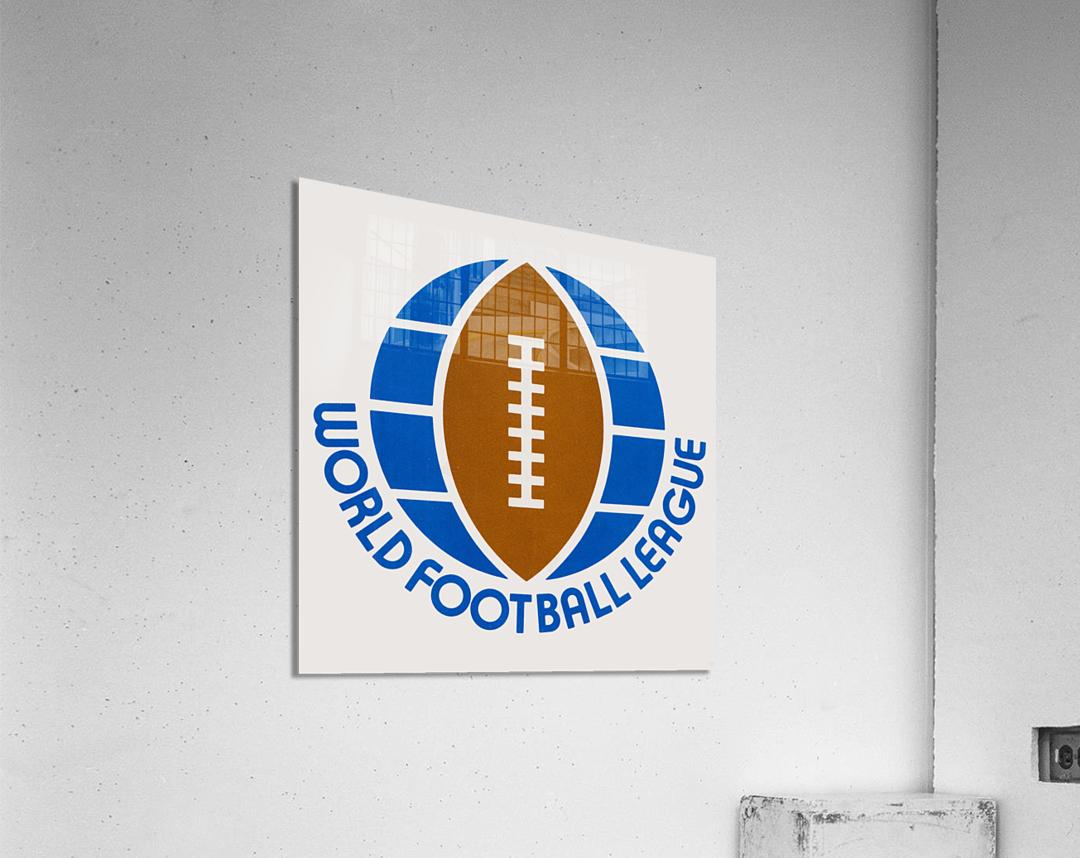 1974 World Football League Logo Art  Acrylic Print