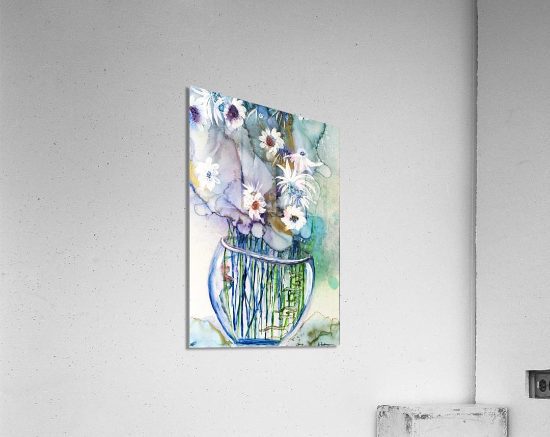 Blue Floral  Impression acrylique