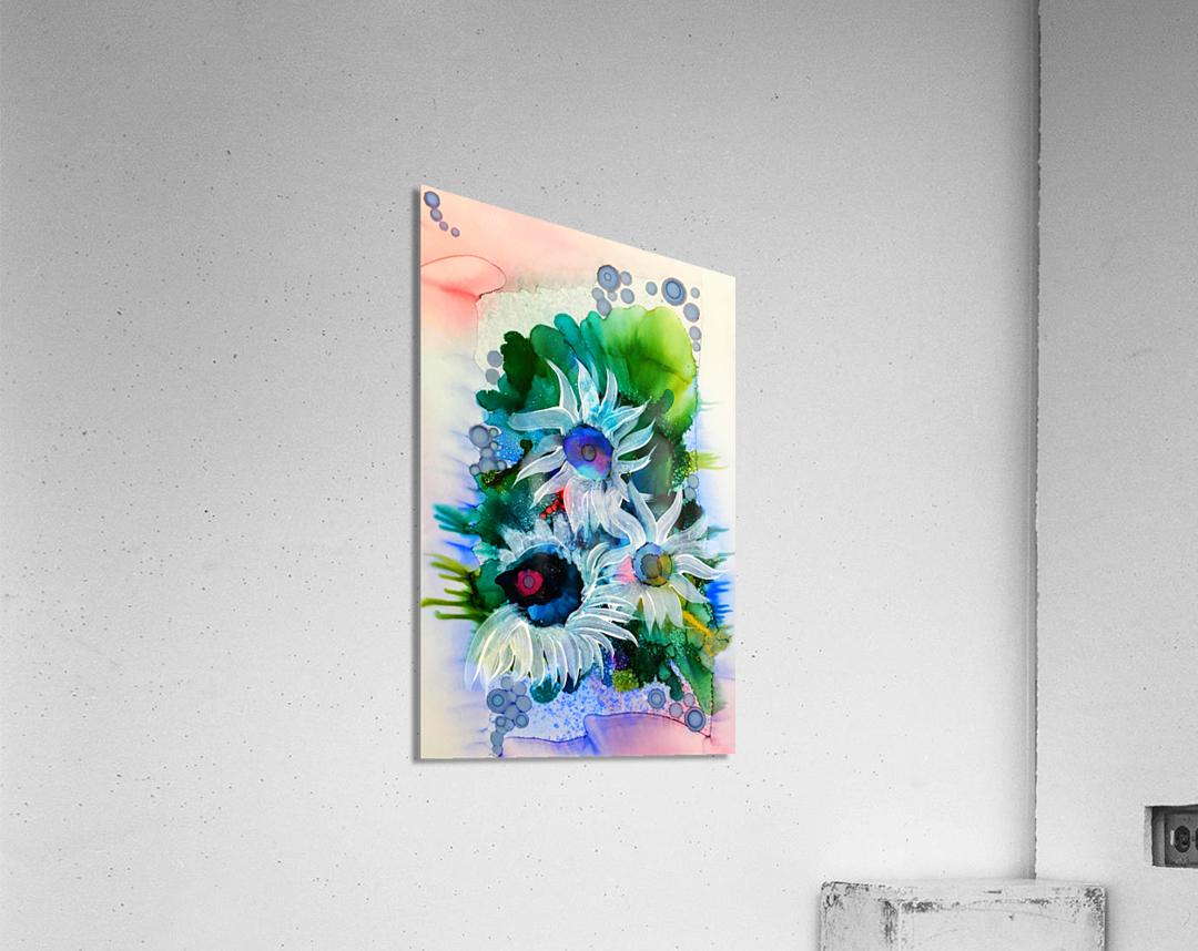 Floral Burst  Impression acrylique