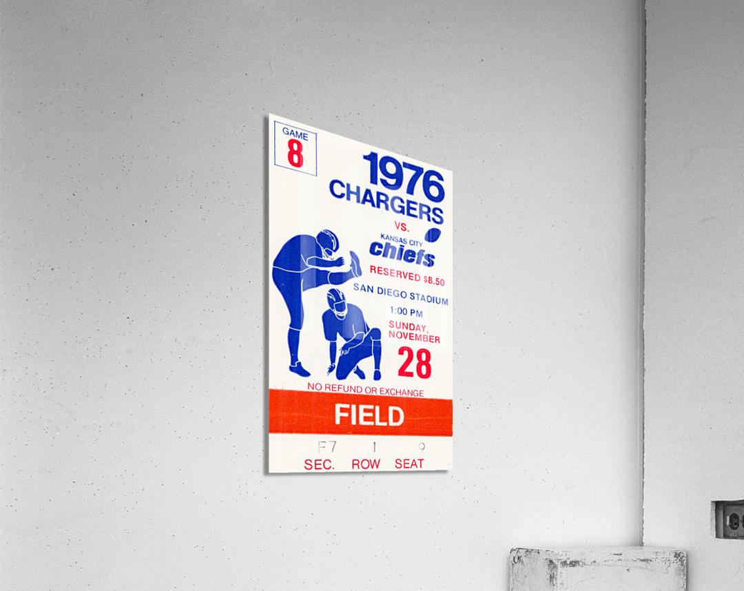 1976 San Diego Chargers vs. Kansas City Chiefs  Acrylic Print