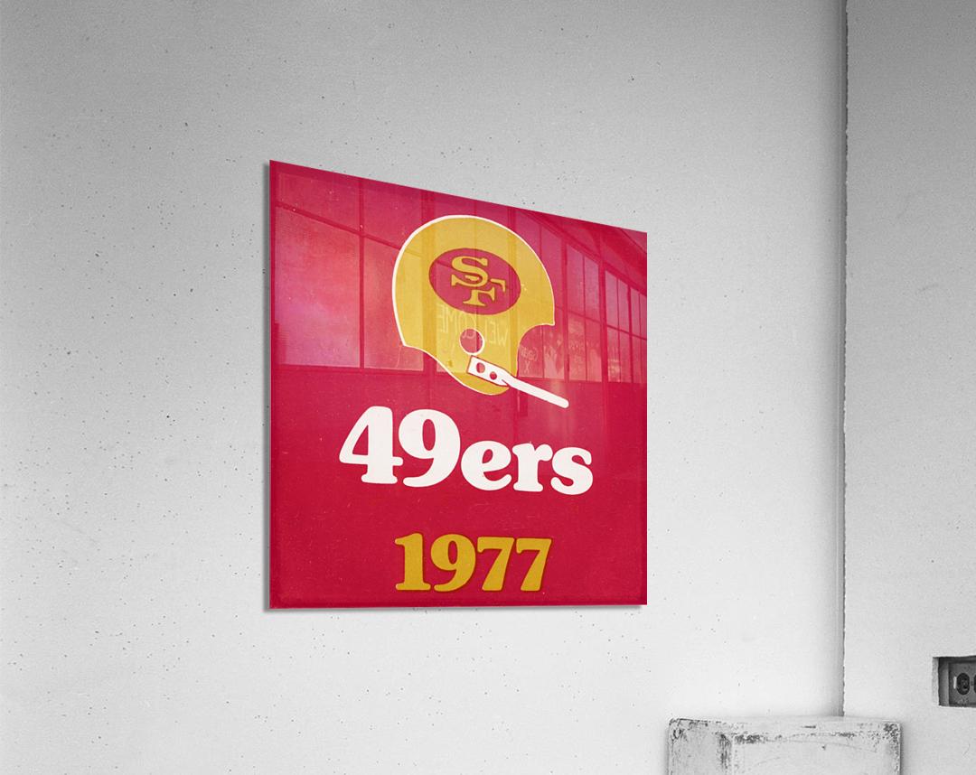 1977 San Francisco 49ers Helmet Art  Acrylic Print