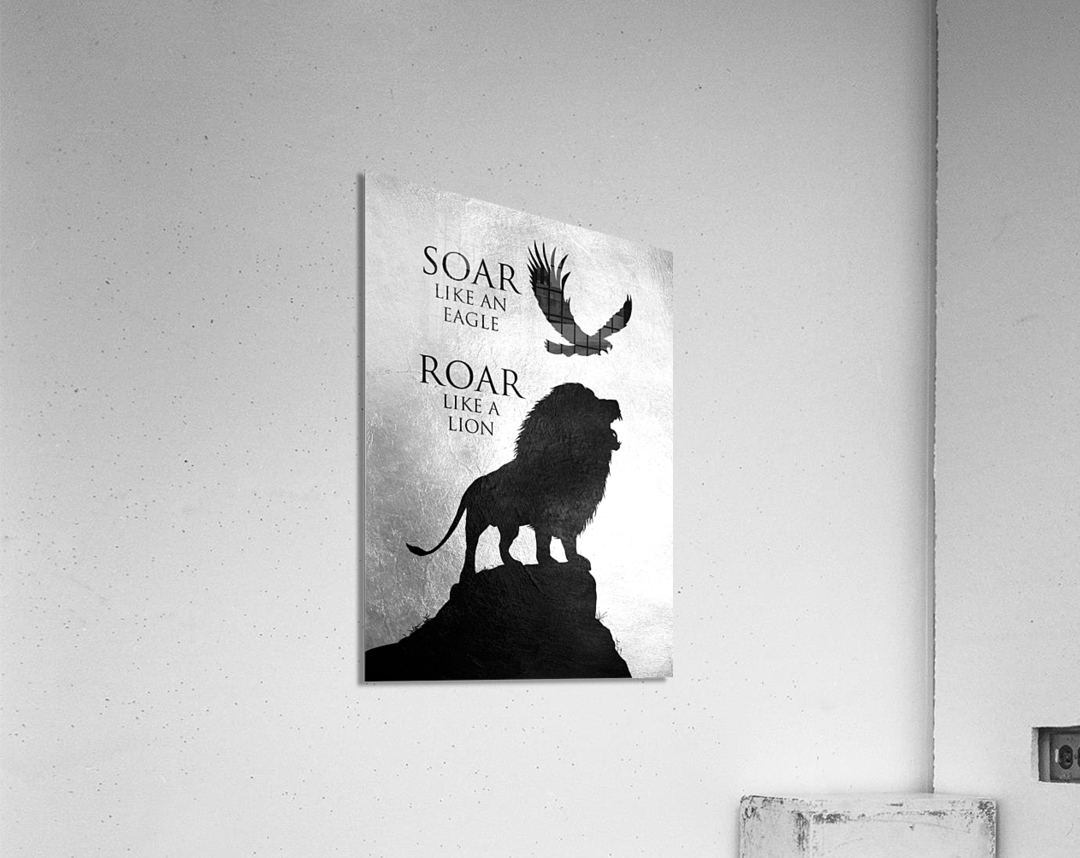 lion and eagle Motivational Wall Art  Acrylic Print