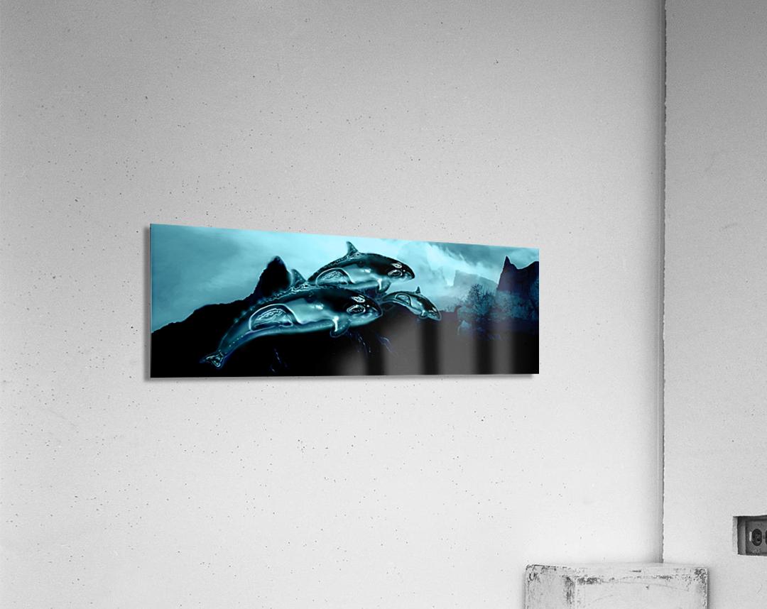 ORCAS LUNARES WIDE 4  Acrylic Print