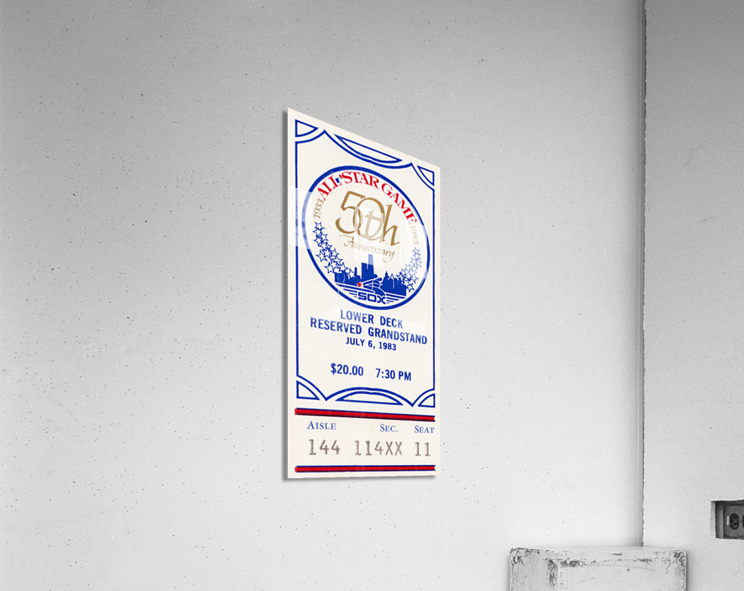 1983 Baseball All-Star Game Ticket Art  Acrylic Print