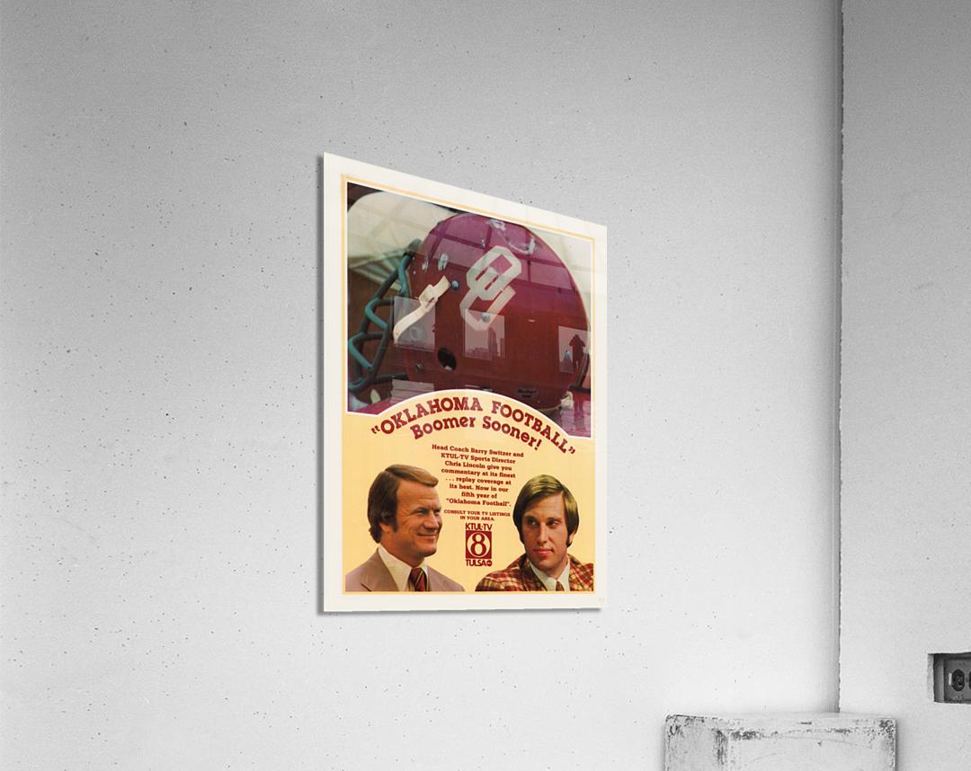 1977 Oklahoma Football Show Ad Barry Switzer   Acrylic Print