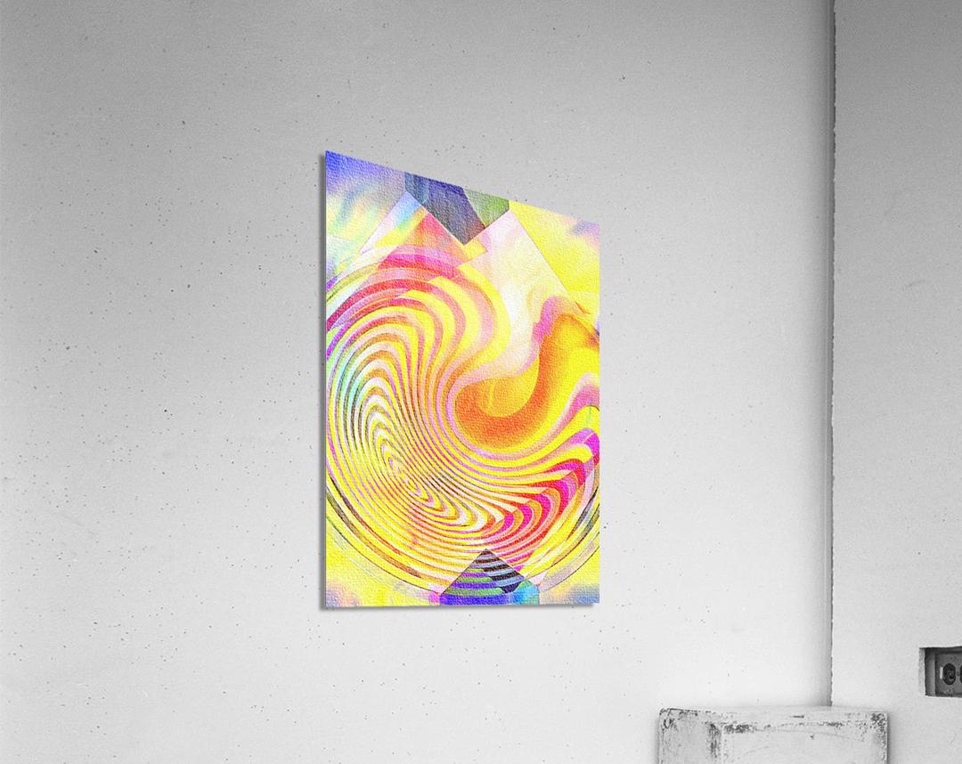 Multicolored Experimental Headache 21  Acrylic Print