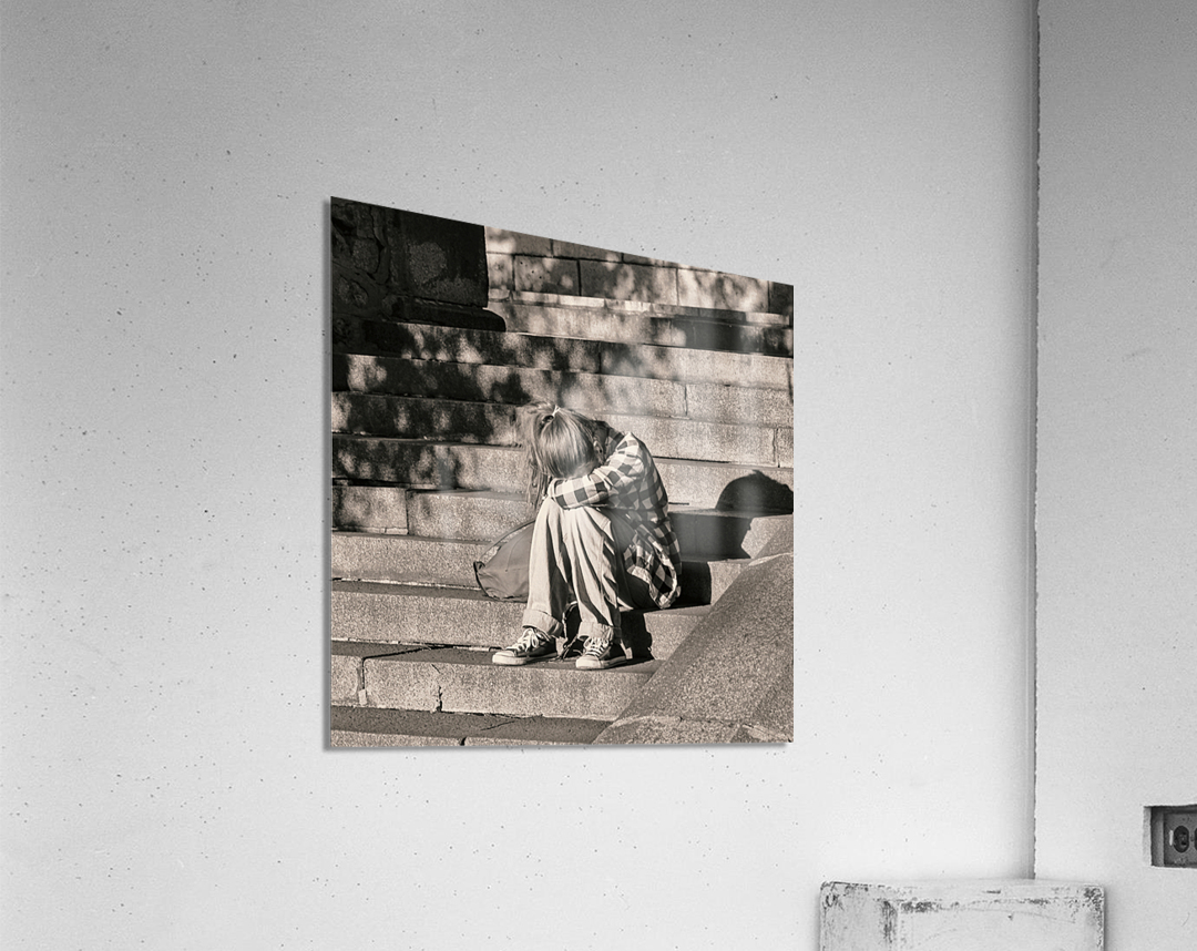 Urban Loneliness - Crying  Acrylic Print