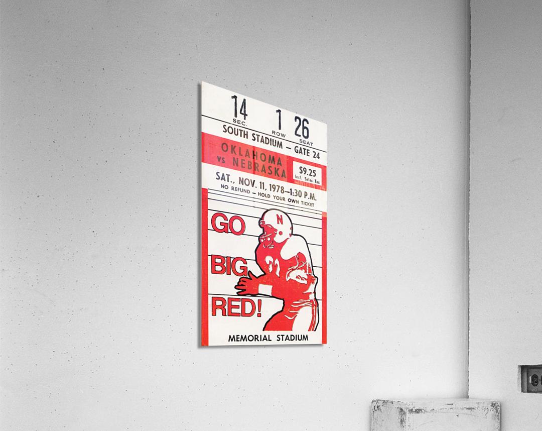 1978 Nebraska Cornhuskers vs. Oklahoma Sooners  Acrylic Print