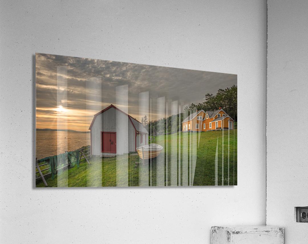 Hangar et chaloupe de la maison Xavier-Blanchette  Acrylic Print