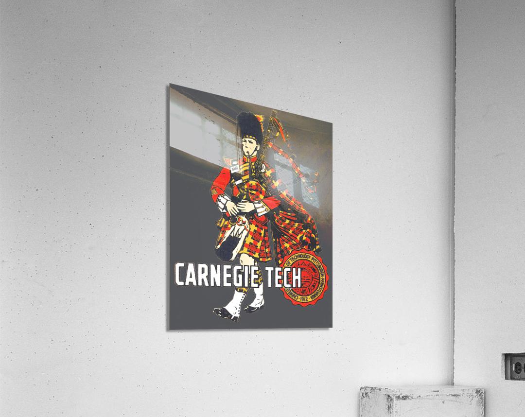 1950s Carnegie Tech Tartans Vintage Art   Row 1  Acrylic Print