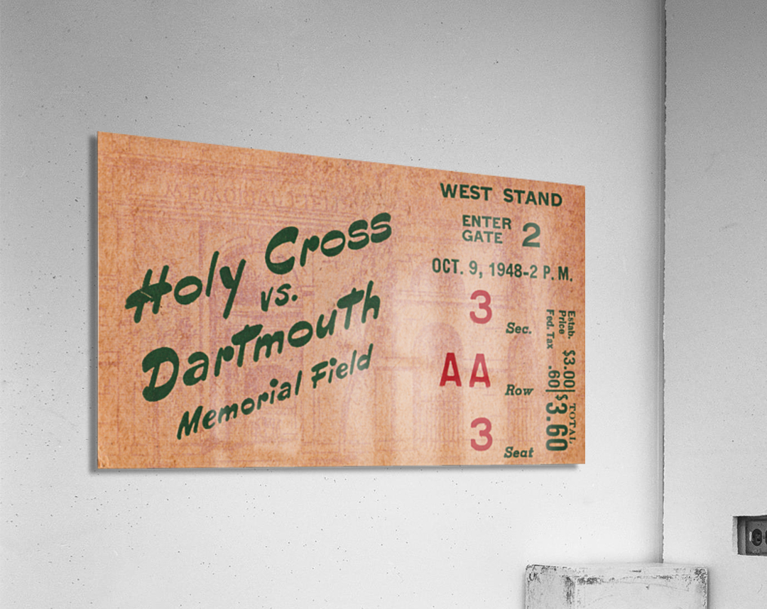 1948 Dartmouth Indians vs. Holy Cross Crusaders | Row 1  Acrylic Print