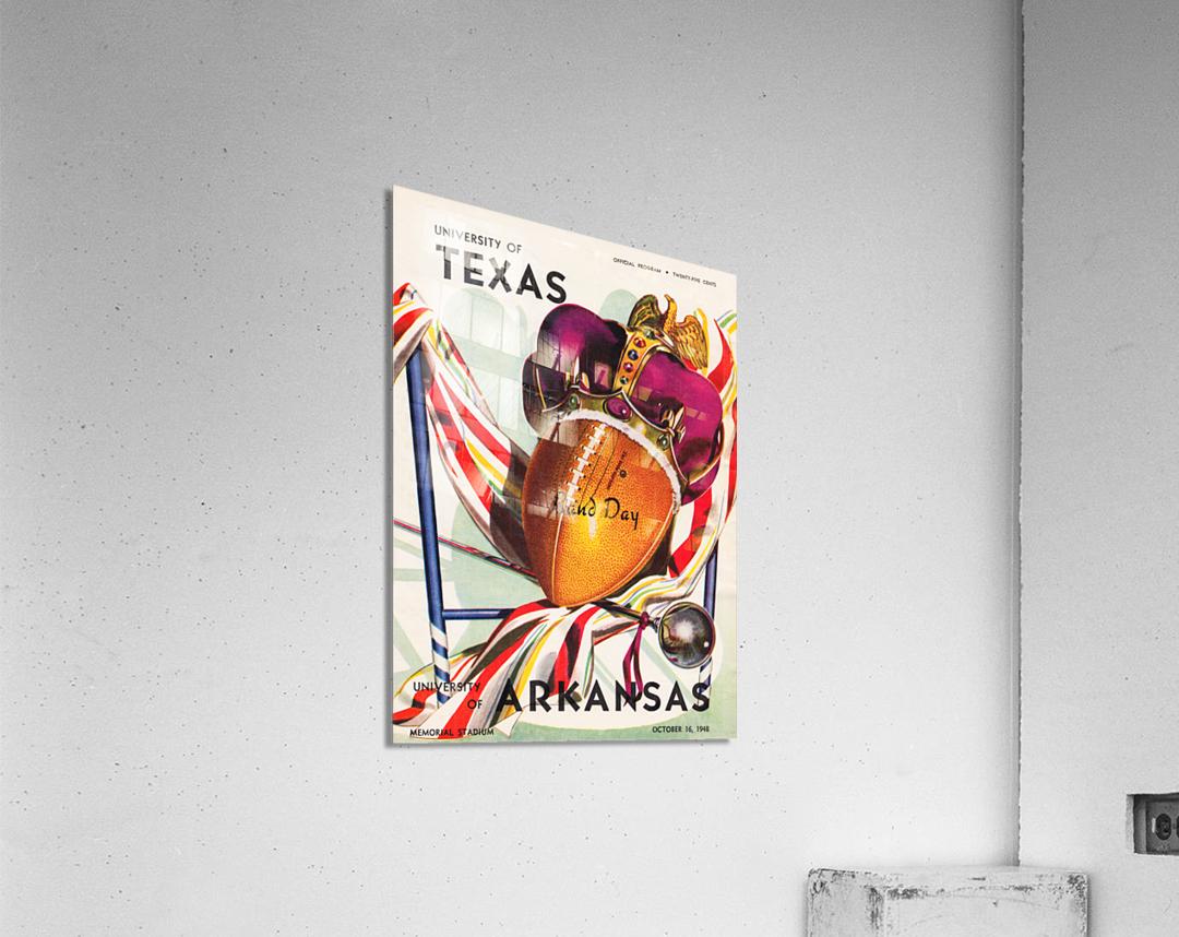 1948 Texas Longhorns vs. Arkansas Razorbacks | Row 1  Acrylic Print