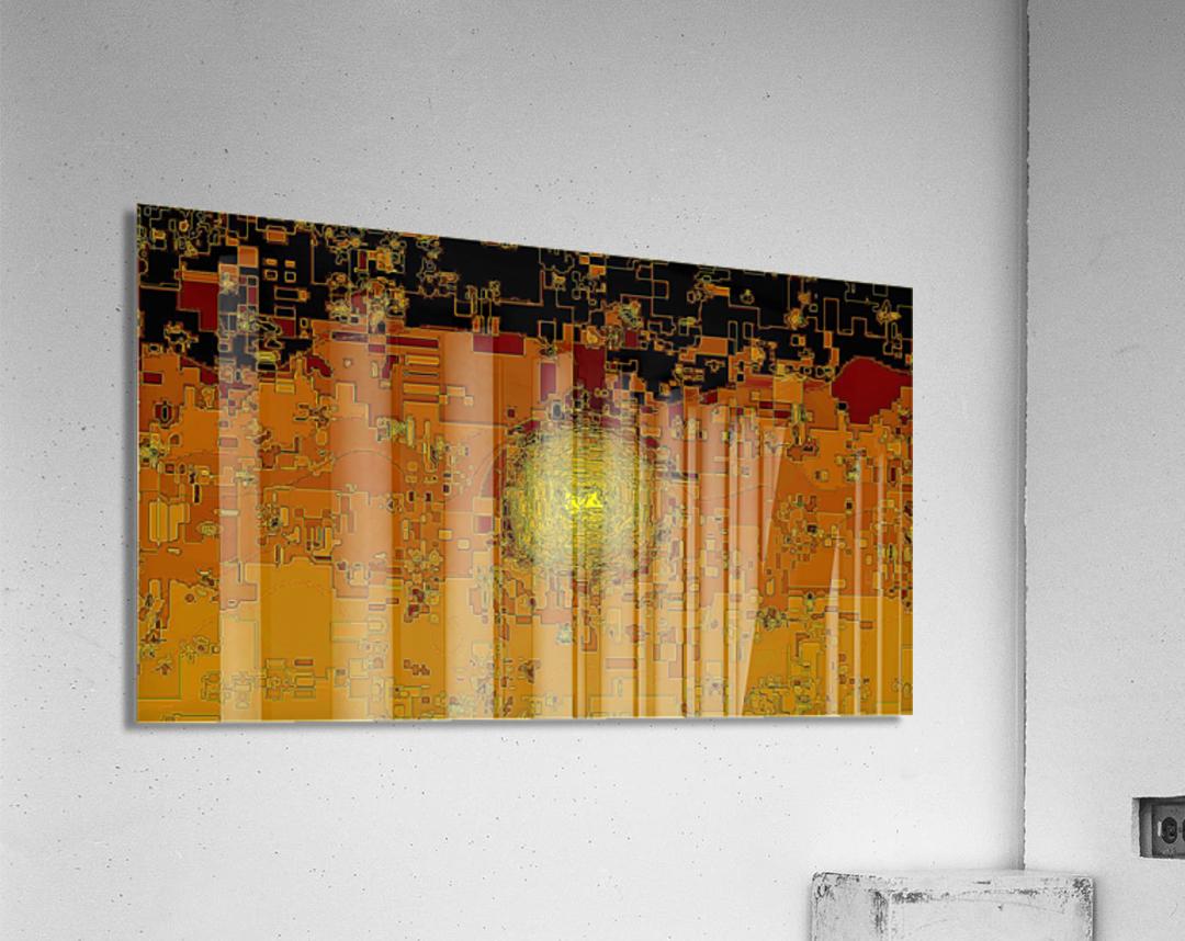 Mayan Sun  Acrylic Print