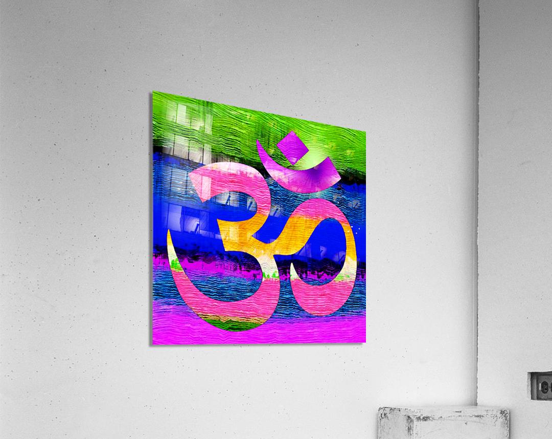 Om Waves  Acrylic Print