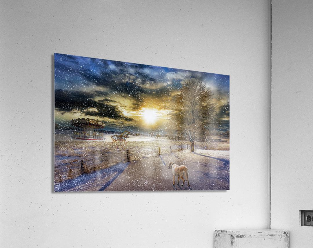 A Magical Winter Night  Acrylic Print