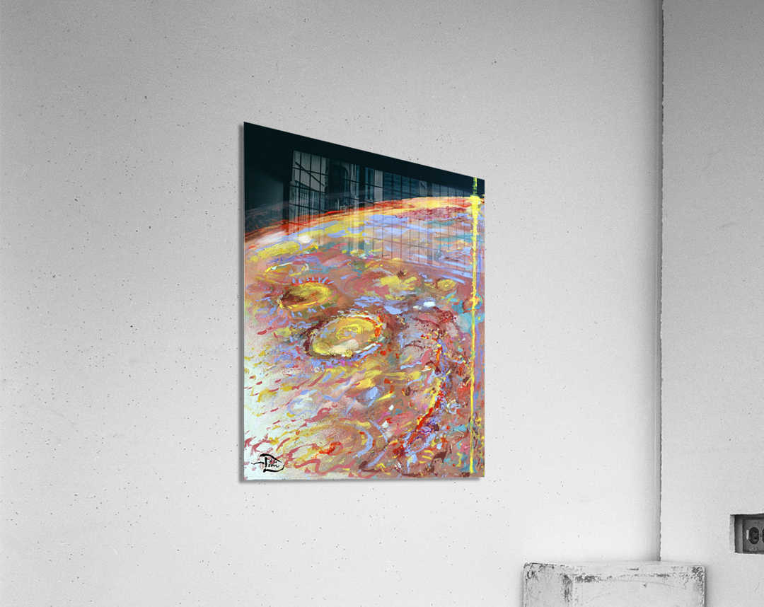 Worlds First Martianpressionist Painting  Acrylic Print
