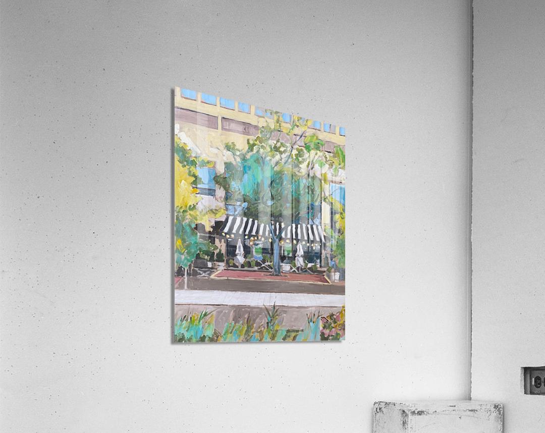 Street Cafe Downtown Baltimore  Acrylic Print