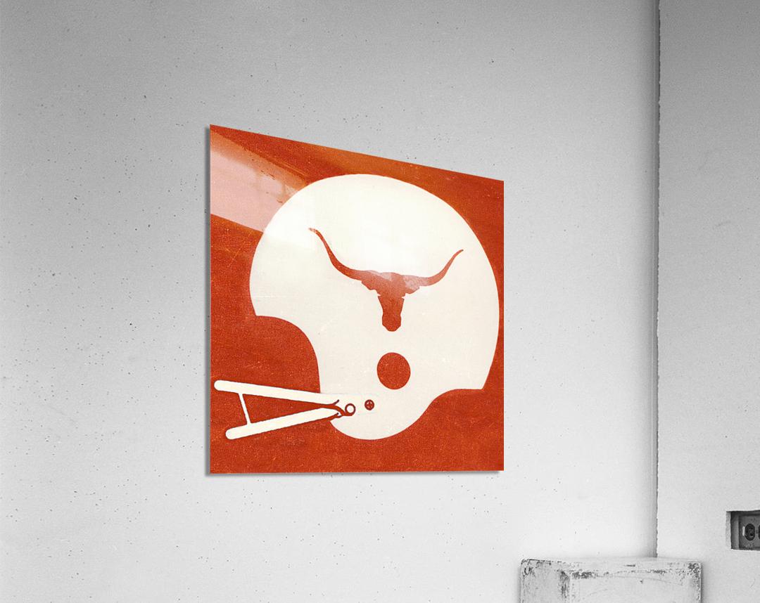 1983 Texas Longhorn Football Helmet Art Brushed Metal Sign  Acrylic Print