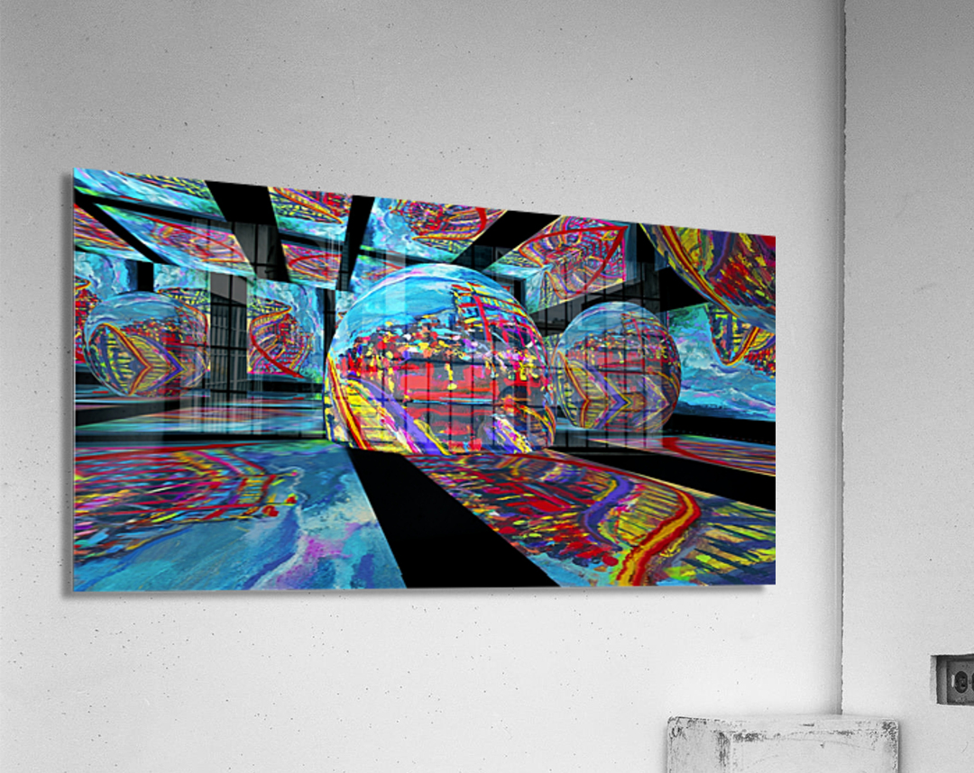 EXTREME Roller Coaster RoomXpander tm Tracking Art  Acrylic Print