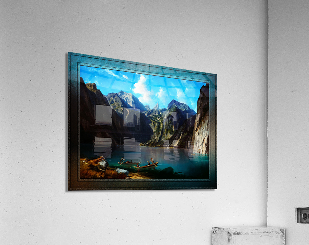 Konigsee c1873 by Willibald Wex Classical Fine Art Xzendor7 Old Masters Reproductions  Acrylic Print